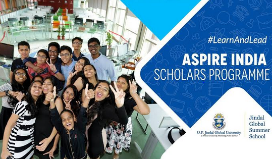 Aspire India Scholars Program for School Students at Jindal Global Summer School, Haryana [Classes IX- XII, June 7-21]: Apply by April 26: Expired