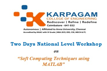 National Level Workshop on Soft Computing Techniques using MATLAB [Jan 23-24, Coimbatore]: Register by Jan 17