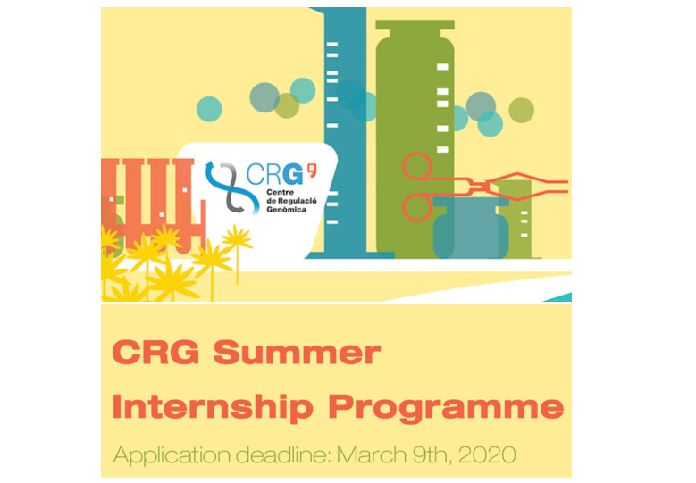 Summer internship 2020 Centre for genomic research spain