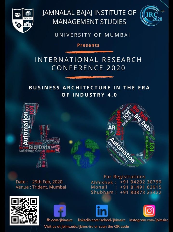 JBIMS International Research Conference 2020