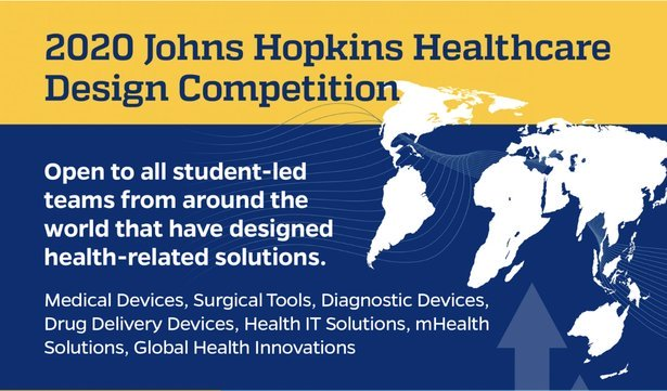 Call for Proposals: Johns Hopkins Healthcare Design Competition 2020 at JHU Homewood Campus, US [April 19]: Submit by Feb 16