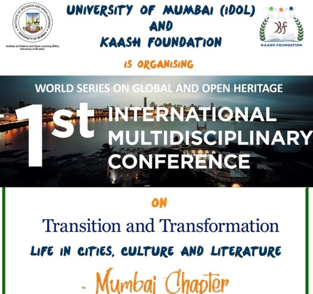 CfP: Conference on Transition and Transformation: Cities in Life, Literature and Culture [Feb 17-18, Mumbai]: Submit by Jan 20
