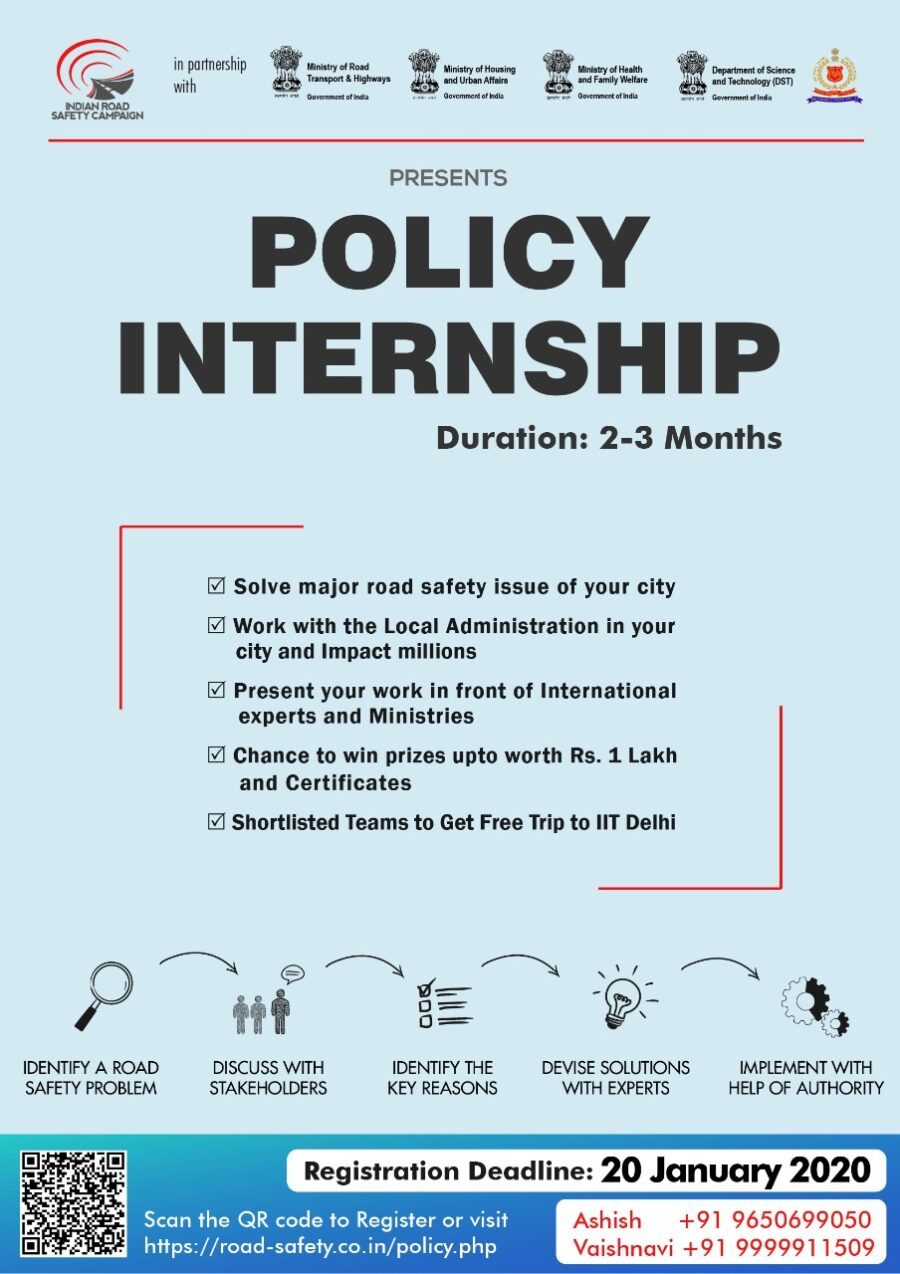 Policy Internship India Road Safety Campaign