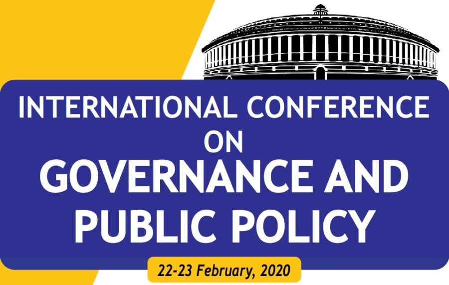 international conference governance and public policy Sriperumbudur