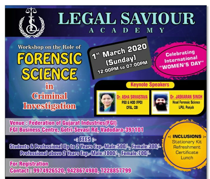 poster legal saviour workshop