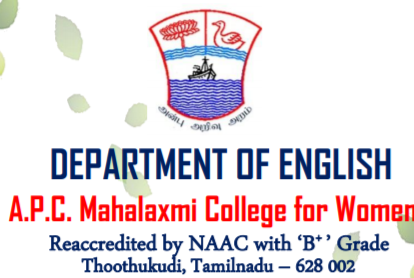 CfP: International Conference on Eco Ethics in English Literature at Mahalaxmi College for Women, TN [March 20]: Submit by March 12