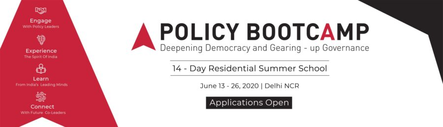 Policy BootCamp 2020 by Vision India Foundation, Delhi [June 13-26]: Apply by March 22