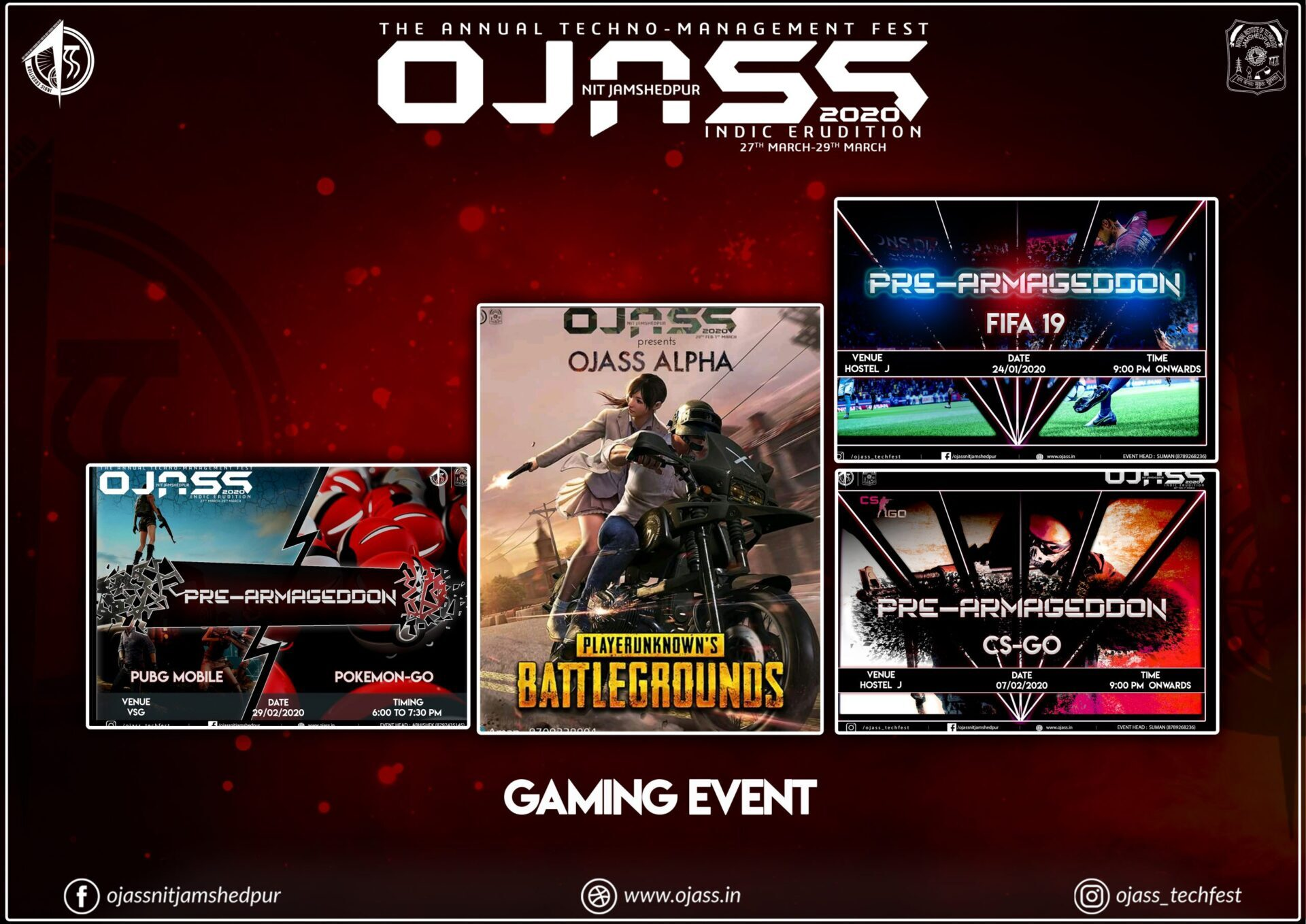gaming events OJASS 2020