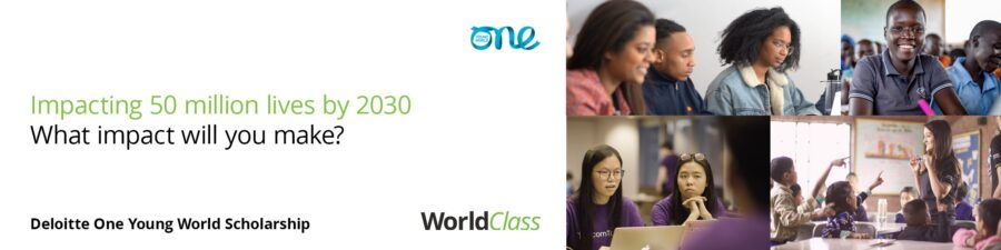 Deloitte One Young World Scholarship 2020 at Munich [Fully Funded, 10 Positions]: Apply by May 22