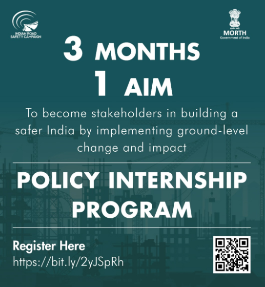Internship Opportunity at Indian Road Safety Campaign [Work from Home, ₹5K Stipend]: Applications Open