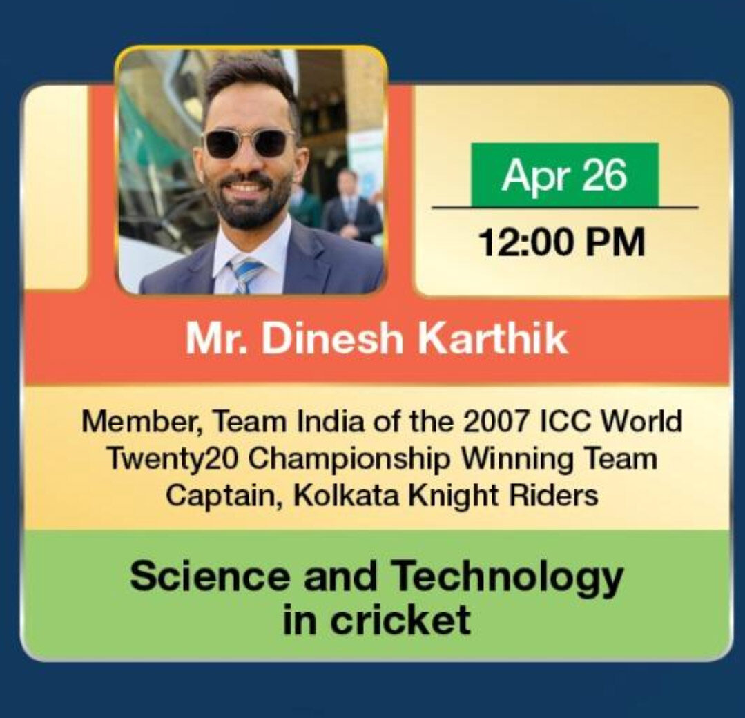 Science and technology in cricket webinar dinesh Karthik