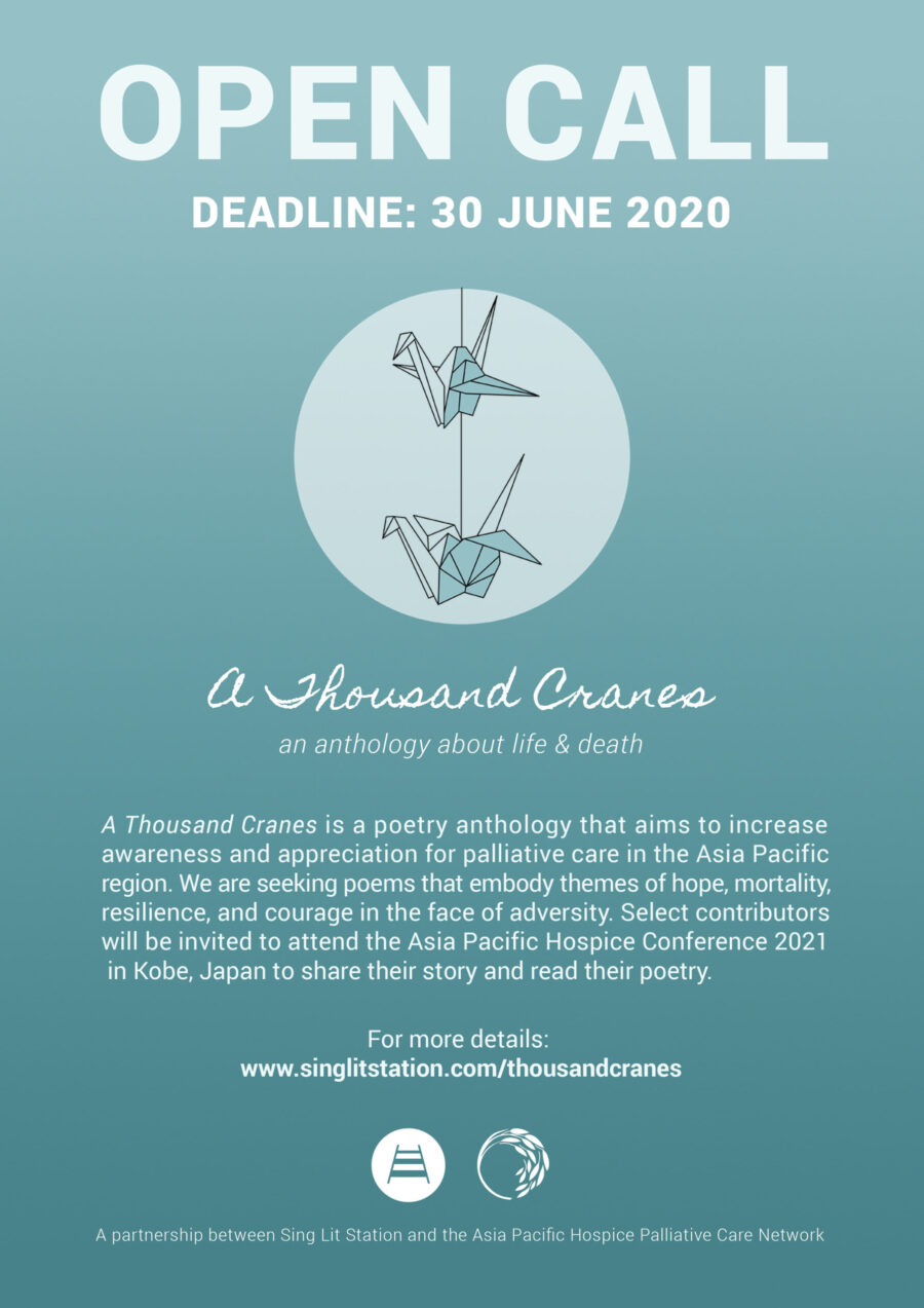 Call for Poetry: 'A Thousand Cranes' Asia-Pacific Poetry Anthology: Submit by June 30: Expired
