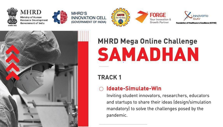SAMADHAN: COVID-19 Mega Online Challenge by MHRD, Govt. of India: Apply by April 14