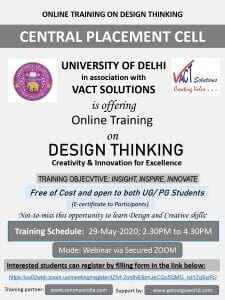 DU Placement Cell Design thinking training