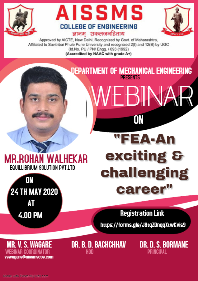 National Webinar on Finite Element Analysis: An Exciting & Challenging Career [May 24, 4 PM]: Registrations Open