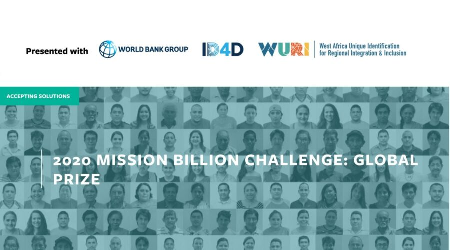 World Bank's Mission Billion Challenge Global Prize 2020 [Award Worth Rs. 1 Cr]: Apply by Aug 14