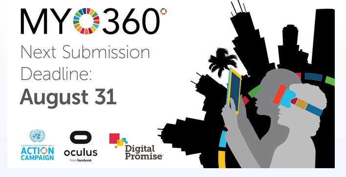 My World 360˚ Competition 2020 for Emerging Creators by UN-SDG Action Campaign & Oculus: Apply by Aug 31