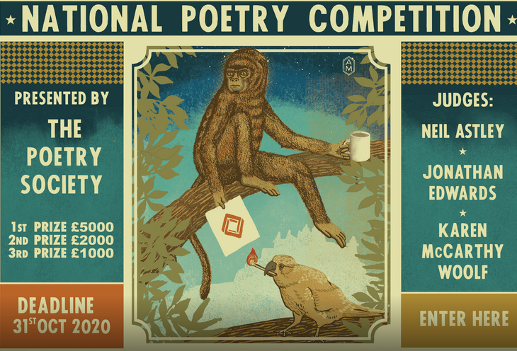 National Poetry Competition by The Poetry Society, Arts Council, England [Prizes Upto Rs. 4.5L]: Submit by Oct 31