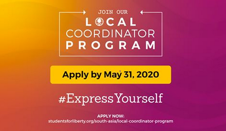 Students for Liberty South-Asia Local Coordinator Program 2020 [Fully Funded]: Apply by May 31