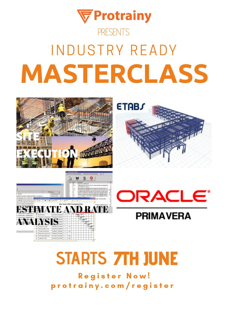 Industry Ready Master Classes for Civil Engineering Students [Starting June 7]: Register by June 5