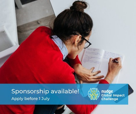 Nudge Global Impact Challenge 2020 for Young Professionals [Sponsorship Available]: Apply by July 1