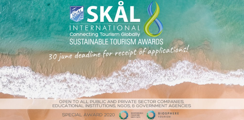 Call for Entries: Skål International Sustainable Tourism Awards 2020: Submit by June 30