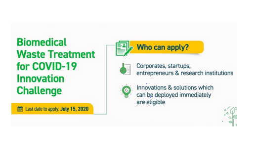 COVID-19 Biomedical Waste Treatment: An Innovation Challenge by Govt. of India: Apply by July 15