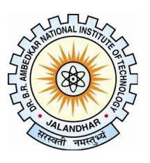 NIT Jalandhar PhD Admission July session 2020