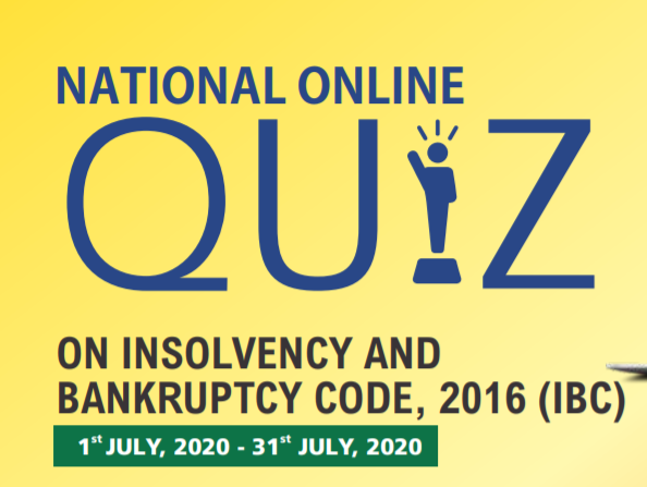 National Online Quiz on Insolvency and Bankruptcy Code, 2016
