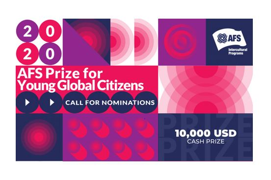 AFS Prize for Young Global Citizens 2020 [Cash Prizes Upto Rs. 7.4L]: Apply by July 28
