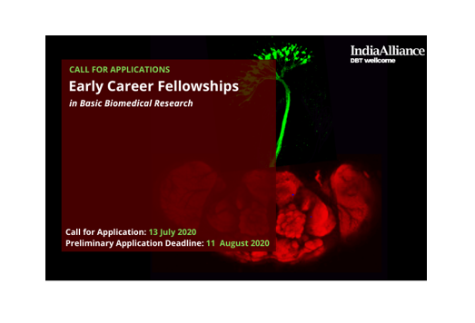 Early Career Fellowships in Basic Biomedical Research by DBT/ Wellcome Trust India Alliance: Apply by Aug 11