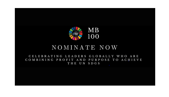 Meaningful Business 100 (MB100) Award 2020 for Leaders: Apply by Aug 31