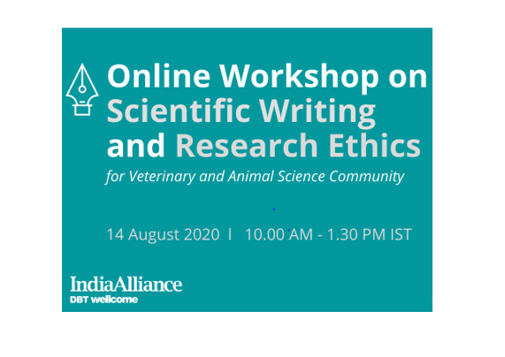 Online Workshop on Scientific Writing & Research Ethics by DBT/ Wellcome Trust India Alliance [Aug 14]: Register by Aug 10