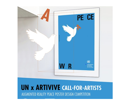 Augmented Reality Peace Poster Design Competition by United Nations & Artivive: Apply by July 31