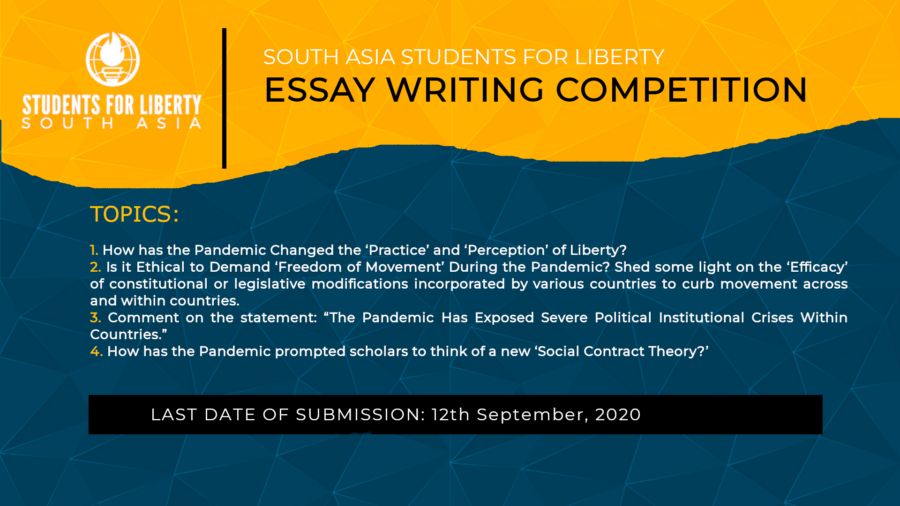 South Asia Students For Liberty's Essay Writing Competition: Submit by Sep 12