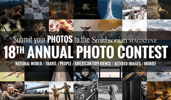 Smithsonian Magazine 18th Annual Photo Contest [Exciting Cash Prizes]: Register by Nov 30: Expired