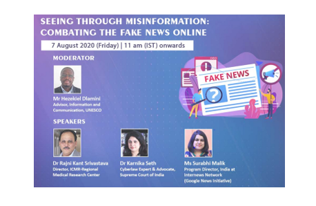 Webinar on Combating the Fake News Online by TERI, New Delhi [Aug 7, 11 AM]: Registrations Open
