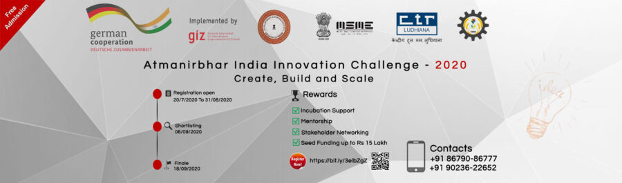Atmanirbhar India Innovation Challenge – 2020 [Support Worth Rs. 50k]: Apply by Sep 12