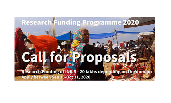 Call for Proposals: Research Funding Program 2020 by Azim Premji University, Bangalore [Grants Upto Rs. 20L]: Apply by Oct 31