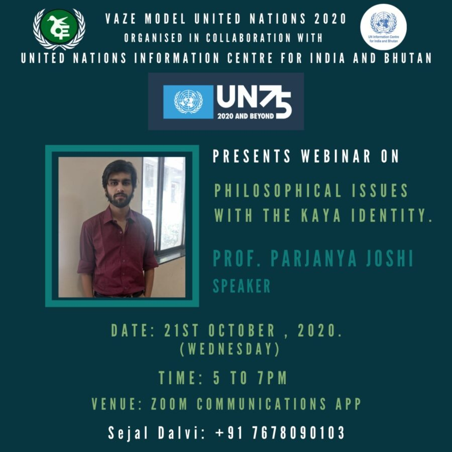 """Webinar on """"the Philosophical Issues with the Kaya Identity"""" by Vaze Model United Nations [Oct 21, 5:00 PM]: Registration Open"""