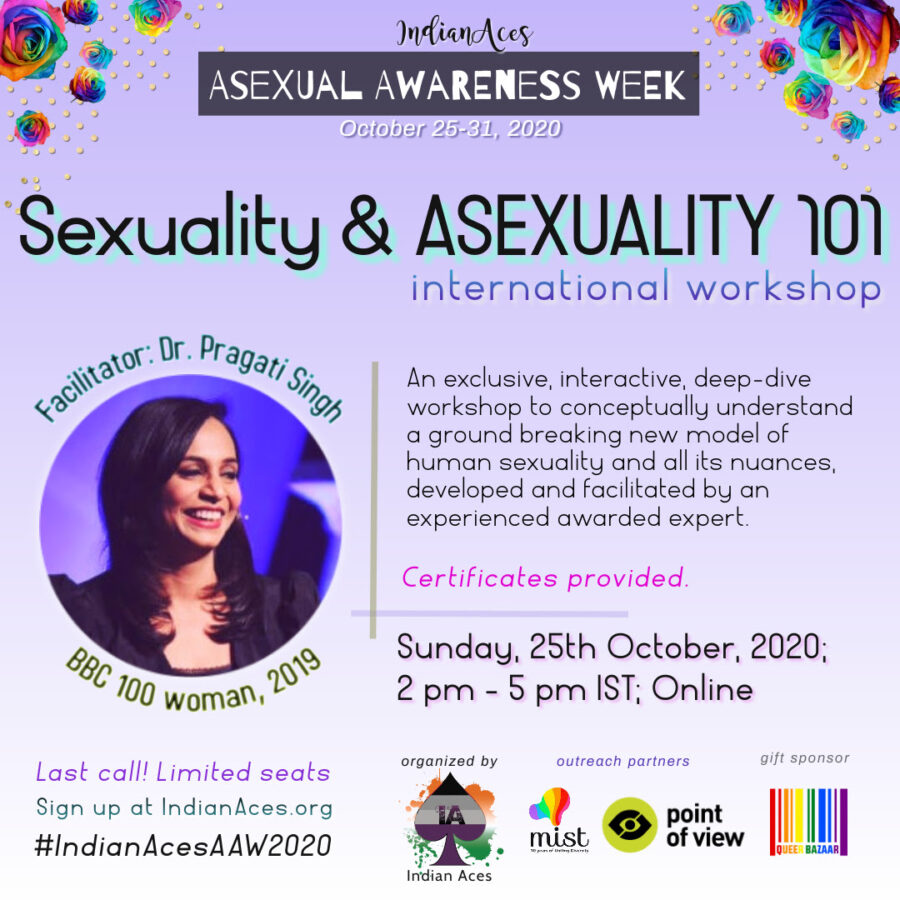 Asexual Awareness Week by Indian Aces [Oct 25-31]: Registration Open