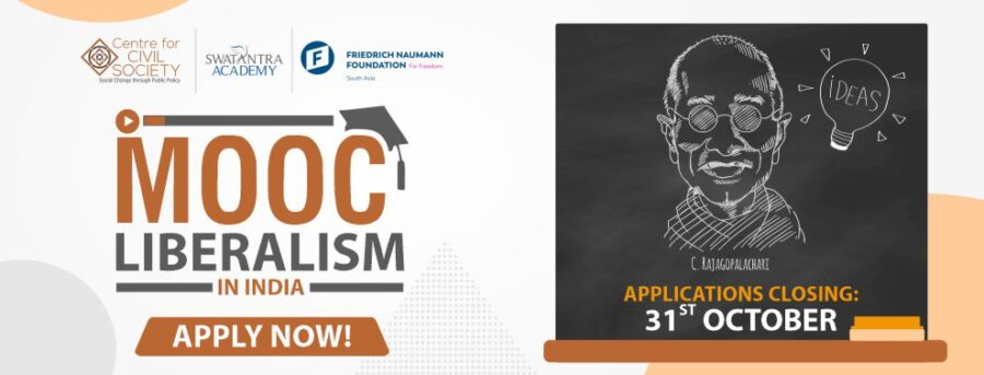 Centre for Civil Society's MOOC on Liberalism in India: Enroll by October 31: Expired