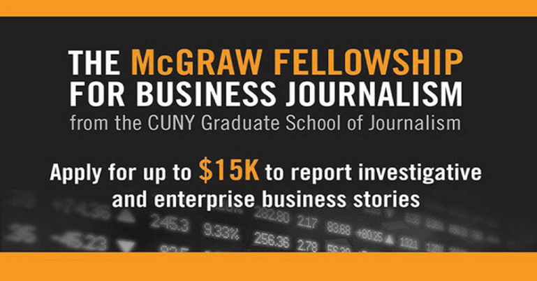 McGraw Fellowship for Business Journalism 2021 [Grants Amount Upto Rs. 10 L]: Apply by Feb 12