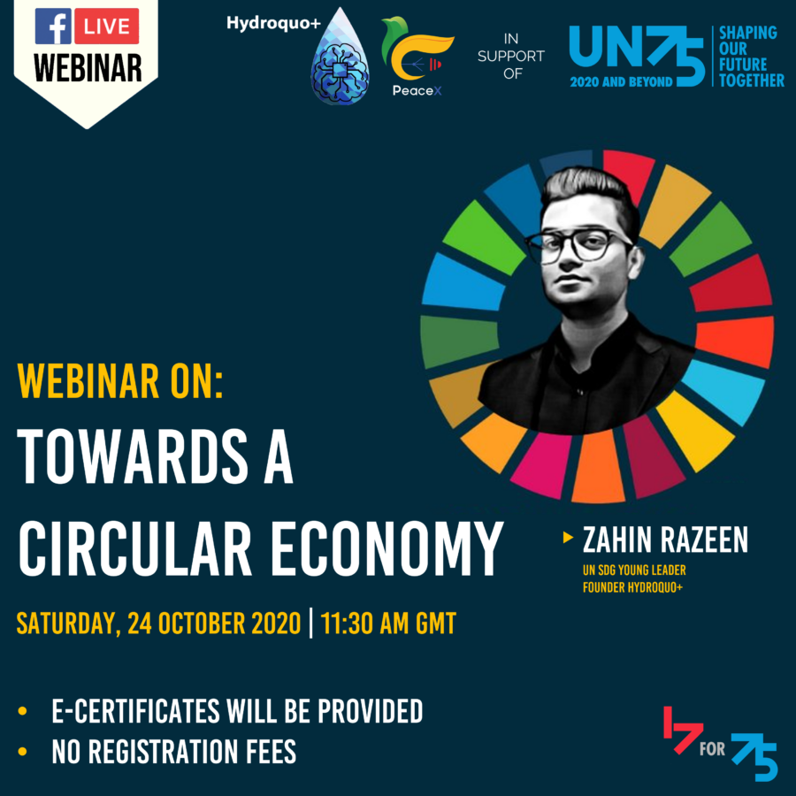 PeaceX Webinar on Towards a Circular Economy: The Balance between Employment and Ecosystem [Oct 24, 5:00 PM]: Registration Open