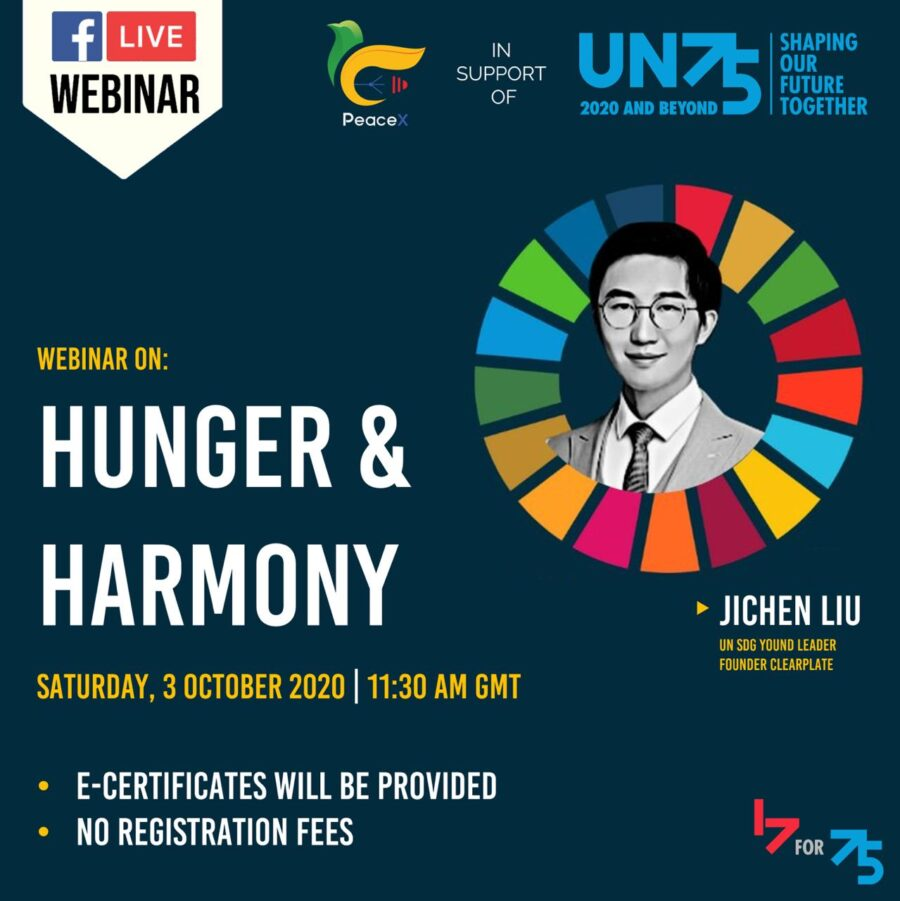 Webinar on Hunger and Harmony: Food Wastage and Resource Conflicts by PeaceX Organisation [Oct 3, 11: 30 AM]: Registration Open
