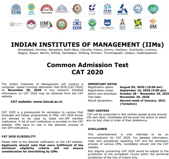 Countdown to CAT 2020: Advice, Tips, Tricks & Updates!