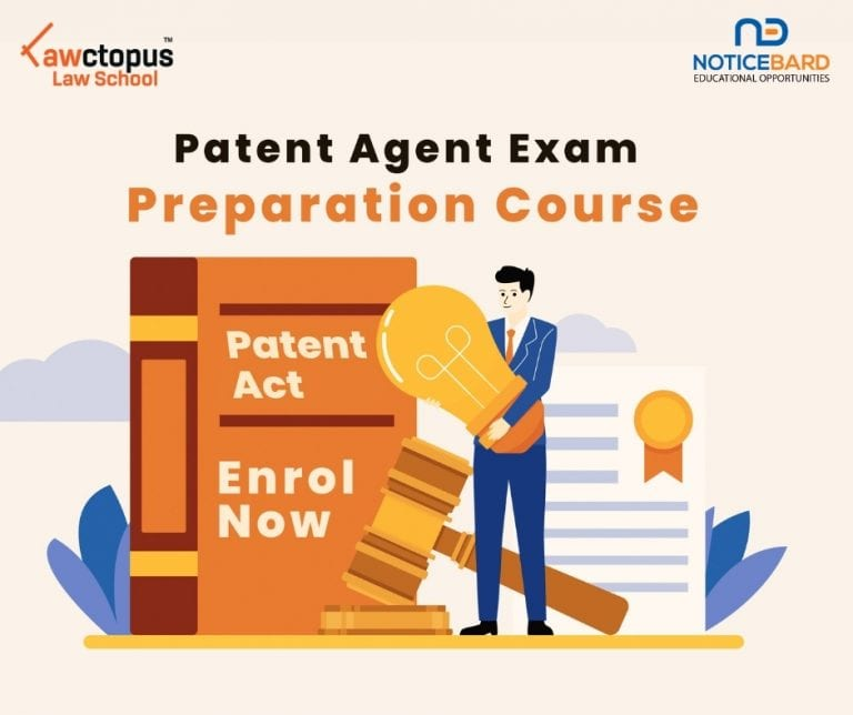 Online Course on Patent Agent Exam Preparation by Lawctopus Law School and NoticeBard [Nov 15-Jan 15]: Register by Nov 15