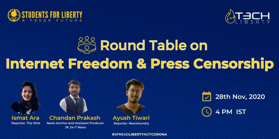 Conference on Internet Freedom and Press Censorship under the Tech Liberty Campaign by Students for Liberty [Nov 28]: Register by Nov 26