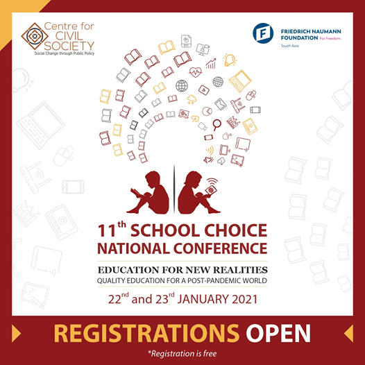 Centre for Civil Society's 11th School Choice National Conference [Jan 22-23, Zoom]: Registration Open