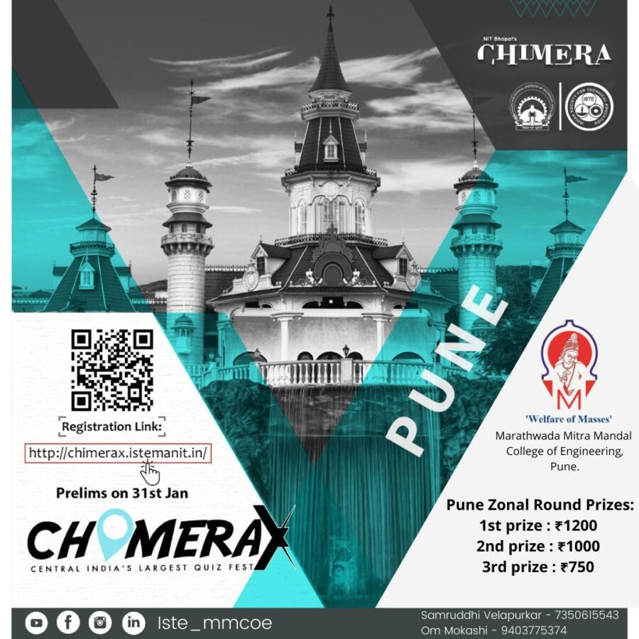CHIMERA-X 2021 General Knowledge & Aptitude Quiz by MANIT Bhopal [Prizes Upto Rs. 30k]: Register by Jan 31